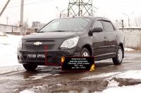 Защитная сетка решетки радиатора Chevrolet Cobalt (седан) 2013-