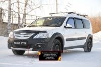 Защитная сетка решетки переднего бампера Lada (ВАЗ) Largus Cross (универсал) 2015-