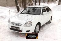 Защитная сетка решетки переднего бампера Lada (ВАЗ) Приора (хэтчбэк) 2014-