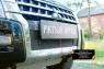 Защитная сетка переднего бампера Mitsubishi Pajero IV 2014- (рестайлинг 2)