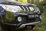 Защитная сетка решетки переднего бампера Mitsubishi L200 2015-