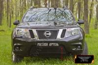 Защитная сетка решетки переднего бампера Nissan Terrano 2016-