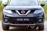 Защитная сетка решетки переднего бампера Nissan X-trail 2015-2016