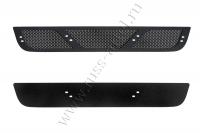 Защитная сетка и заглушка решетки переднего бампера Nissan Pathfinder 2011-2013 (R51 рестайлинг)