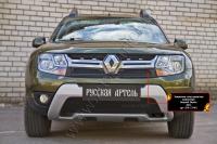 Защитная сетка решетки радиатора Renault Duster 2015- (I рестайлинг)