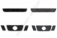 Защитная сетка и зимняя заглушка решеток радиатора и переднего бампера Nissan Pathfinder 2011-2013 (R51 рестайлинг)