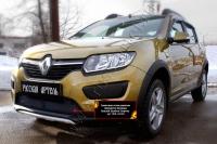 Защитная сетка решетки переднего бампера Renault Sandero Stepway 2014-
