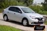 Защитная сетка решетки переднего бампера Renault Logan 2014-2017 (II дорестайлинг)
