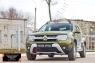 Защитная сетка и заглушка решетки переднего бампера Renault Duster 2015- (I рестайлинг)