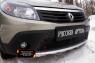 Защитная сетка переднего бампера Renault Sandero Stepway 2009-2013