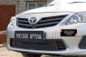 Защитная сетка и заглушка решетки переднего бампера Toyota Corolla (седан) 2010-2013