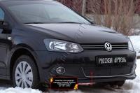 Защитная сетка решетки переднего бампера (Highline) Volkswagen Polo V 2009-2016