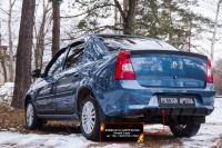 Диффузор на задний бампер Renault Logan 2010-2013