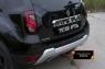 Защита заднего бампера Renault Duster 2015- (I рестайлинг)