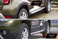Расширители колесных арок с молдингами на двери Renault Duster 2015- (I рестайлинг)