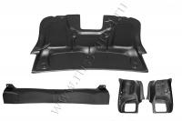 Защитный комплект №2 (обшивка внутренней части крышки багажника,накладка на порожек багажника, внутренняя обшивка задних фонарей) Renault Logan 2014-2017 (II дорестайлинг)