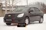 Зимняя заглушка решетки радиатора и переднего бампера Chevrolet Cobalt (седан) 2013-