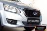 Защитная сетка и заглушка переднего бампера Datsun on-DO 2014-