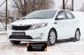 Защитная сетка и заглушка переднего бампера KIA Rio III (седан) 2011-2015 (дорестайлинг)