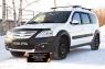 Зимняя заглушка решётки переднего бампера Lada (ВАЗ) Largus Cross (универсал) 2015-