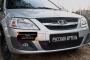 Зимняя заглушка решетки переднего бампера Lada (ВАЗ) Largus фургон 2012-