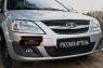 Защитная сетка и заглушка переднего бампера Lada (ВАЗ) Largus фургон 2012-