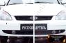 Зимняя заглушка решетки переднего бампера Lada (ВАЗ) Приора (хэтчбэк) 2007-2011
