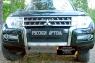 Зимняя заглушка решётки переднего бампера Mitsubishi Pajero IV 2014- (рестайлинг 2)