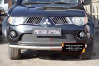 Зимняя заглушка решетки переднего бампера Mitsubishi L200 2007-2010