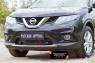 Зимняя заглушка решётки переднего бампера Nissan X-trail 2015-2016