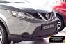 Зимняя заглушка решетки переднего бампера Nissan Qashqai 2014-2016