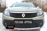 Зимняя заглушка решетки переднего бампера Renault Sandero Stepway 2009-2013