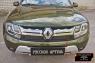 Защитная сетка и заглушка решетки радиатора Renault Duster 2015- (I рестайлинг)