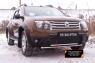 Зимняя заглушка решетки переднего бампера (без «дхо» и обвеса) Renault Duster 2010-2014 (I поколение)