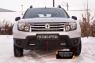 Зимняя заглушка решетки переднего бампера (с «дхо» без обвеса) Renault Duster 2010-2014 (I поколение)