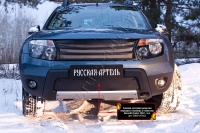Зимняя заглушка решетки переднего бампера (без «дхо» с обвесом) Renault Duster 2010-2014 (I поколение)
