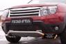 Зимняя заглушка решетки переднего бампера («дхо»+обвес) Renault Duster 2010-2014 (I поколение)