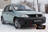 Зимняя заглушка решетки радиатора и решетки переднего бампера Renault Logan 2004-2010