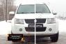 Зимняя заглушка решетки переднего бампера Suzuki Grand Vitara 2008-2012