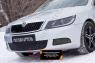 Зимняя заглушка решетки переднего бампера Skoda Octavia A5  2008-2013