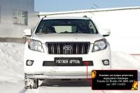 Зимняя заглушка решетки переднего бампера Toyota LC Prado 150 2009-2013