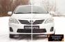 Зимняя заглушка решетки переднего бампера Toyota Corolla (седан) 2010-2013