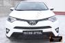 Зимняя заглушка решётки переднего бампера Toyota Rav4 2015-