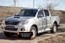 Защитная сетка и заглушка переднего бампера Toyota Hilux 2013-2015