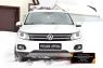Зимняя заглушка решетки переднего бампера (Track & Field) Volkswagen Tiguan 2011-2015